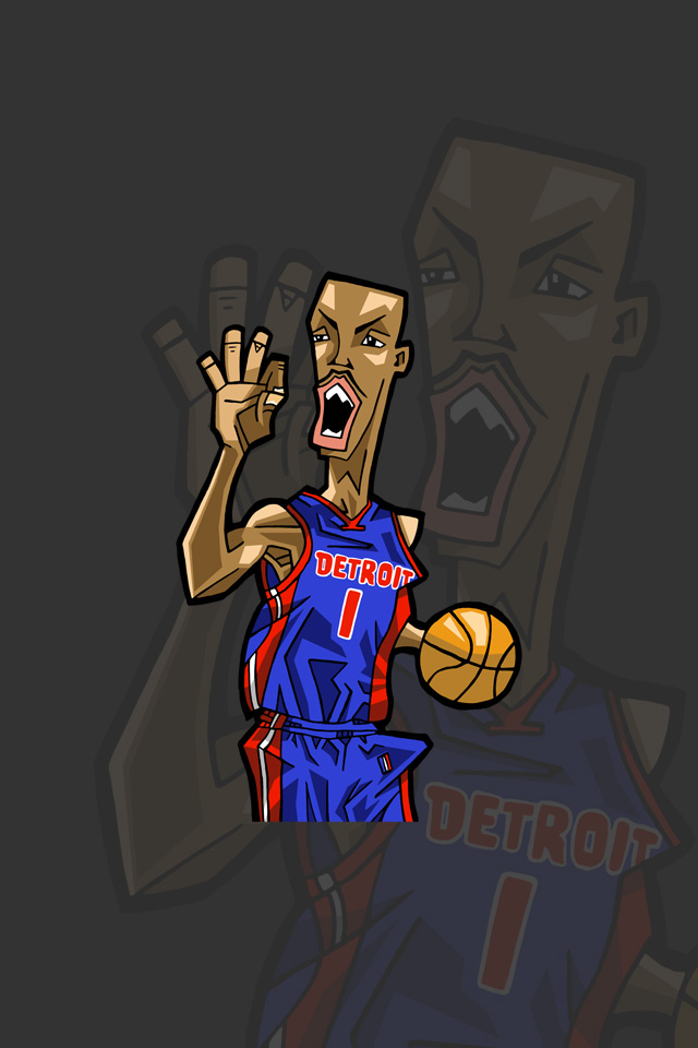 Nbaイラスト バスケイラスト アンストッパブル Nba Illustration Nba Caricature Unstoppable Chauncey Billups チャウンシー ビラップス