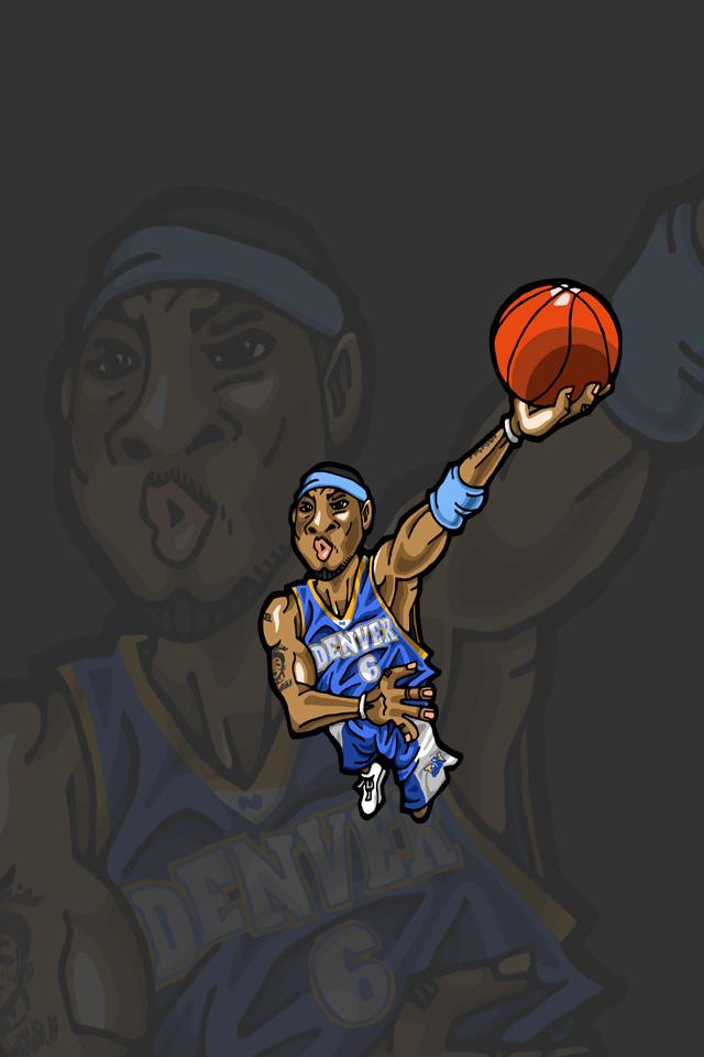 Nbaイラスト バスケイラスト アンストッパブル Nba Illustration Nba Caricature Unstoppable Kenyon Martin ケニヨン マーティン